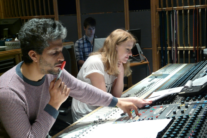 Composer Avshalom Caspi and sound engineer Olga Fitzroy